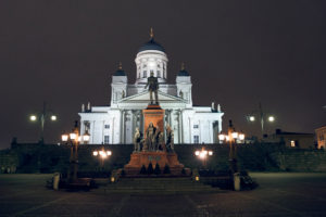 The Helsinki Cathedral, Finland, designed by the German architect Carl Ludwig Engel