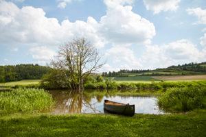 Bavaria, Swabia, river, Wörnitz, canoe