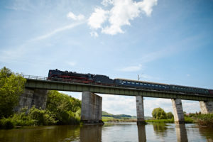Bavaria, Swabia, river, Wörnitz, railway bridge