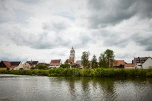 Bayern, Schwaben, Fluß, Wörnitz, Munningen, katholische Pfarrkirche St. Peter und Paul
