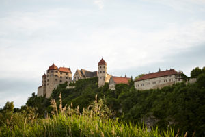 Bavaria, Swabia, river, Wörnitz, Harburg, castle Harburg