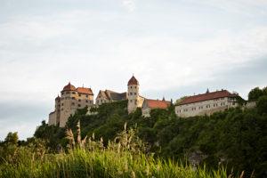 Bayern, Schwaben, Fluß, Wörnitz, Harburg, Burg Harburg