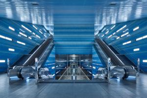 Germany, Hamburg, underground Line 4, station 'Überseequartier'