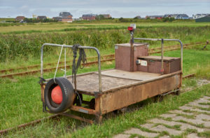 Germany, Schleswig- Holstein, North Frisian Islands, Oland, Lorenbahn, field railway