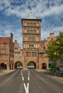 Germany, Schleswig-Holstein, Hanseatic Town of Lübeck, 'Burgtor' (citadel gate), 'Burgtorkloster' (citadel gate monastery)