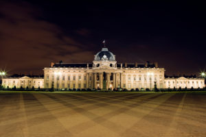 Ecole Militaire by night, Paris, France