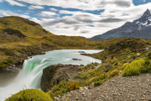 Chile, landscape in the Torres del Paine National Park, Patagonia