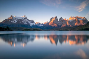 Chile, landscape with Lago Pehoe in the Torres del Paine National Park, Patagonia