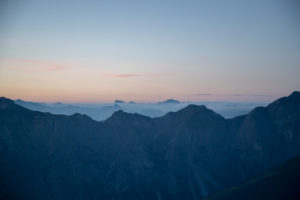 Sunrise in Stubai Valley, Stubai Alps, Tyrol, Austria