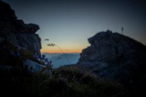 Sonnenaufgang am Hohen Burgstall, Stubaier Alpen, Tirol, Österreich