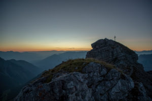 Sunrise on Hoher Burgstall Mountain, Stubai Alps, Tyrol, Austria