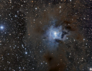 The iris mist in the constellation Kepheus is photographed with the 1m reflector telescope