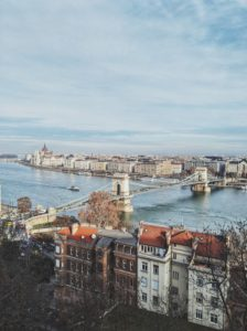 View over Budapest from the castle district