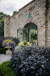 walled exit of the Victorian kitchen garden in Phoenix Park, Dublin, Ireland