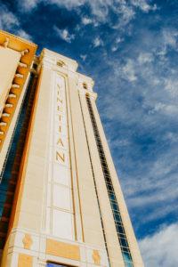 USA, Nevada, Las Vegas. Facade of the Venetian Hotel