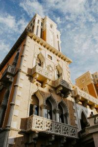 USA, Nevada, Las Vegas, Venetian facade of a house at the Venetian Hotel