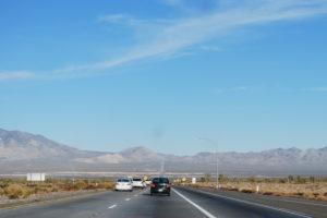 USA, Nevada, drive to Las Vegas