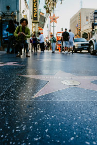 USA, California, Los Angeles, Hollywood Boulevard, Walk of Fame, Star of Barbra Streisand