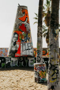 USA, California, Los Angeles, Venice Beach Graffiti Pit