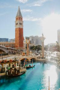 USA, Nevada, Las Vegas, Replika des venezianischen Markusturms (Campanile di San Marco), Venetian Hotels
