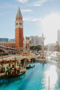 USA, Nevada, Las Vegas, replica of the Venetian Marksturm (Campanile di San Marco), Venetian Hotels