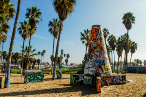 USA, California, Los Angeles, Venice Beach Graffiti Pit