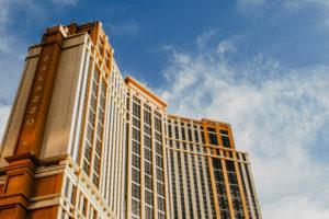 USA, Nevada, Las Vegas, Fassade des Palazzo Towers