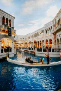 USA, Nevada, Las Vegas, Venice modeled interior of the Venetian Hotel