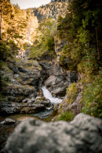 Kuhflucht waterfalls near Farchant, Germany, Bavaria, Garmisch-Partenkirchen