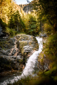 Kuhfluchtwasserfälle bei Farchant, Deutschland, Bayern, Garmisch-Partenkirchen