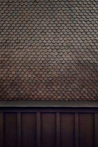 mit Schiefer verkleidete Wand eines Hauses