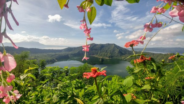 Taal volcano on Luzon Island, Philippines
