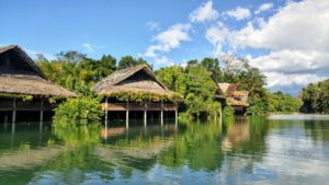 Houses at the river, Philippines