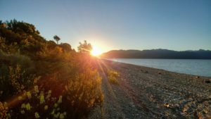 Sunset at Stone Beach, New Zealand