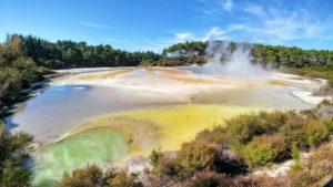 Wai-O-Tapu, Wai-O-Taupo Geothermal Thermal Wonderland in New Zealand