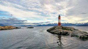 Lighthouse on an island, Ushuaia, Argentina
