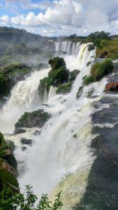 View of the Iguacu Falls, Argentina
