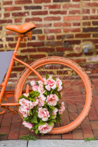 USA, District of Columbia, Washington, Georgetown, painted bicycle