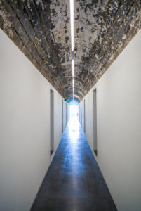 Portugal, Azores, Sao Miguel Island, Ribeira Grande, Arquipelago, contemporary art museum in renovated distillery, interior