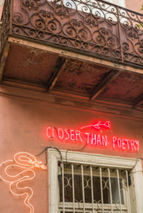 Georgia, Tbilisi, Closer Than Poetry neon sign
