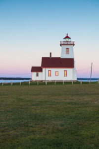 Canada, Prince Edward Island, Wood Islands, Wood Islands Lighthouse, dusk