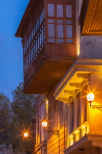 Azerbaijan, Baku, Old City, traditional architecture, dawn