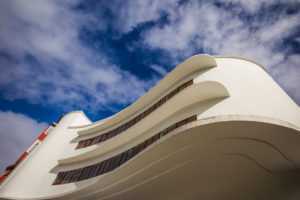 Spain, Canary Islands, Gran Canaria Island,  Las Palmas de Gran Canaria, Triana meighborhood, curved building