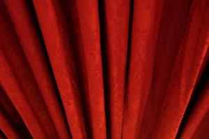 Red curtain, detail, Europe, Croatia, Trogir