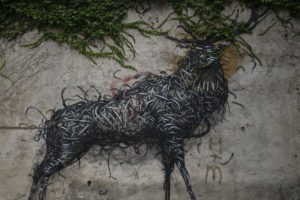 Europe, Austria, Vienna, wall, painting, deer