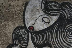 Europe, Austria, Vienna, wall, painting, sleeping woman