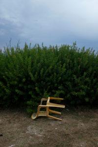 Europe, Greece, Corfu, fallen chair