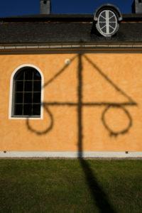 Europe, Sweden, Uppland, facade, shadow