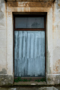 Europe, Mediterranean, Adriatic, Croatia, Hvar, Stari Grad, old house facade, window