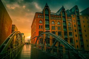Deutschland, Hamburg, Speicherstadt, Hafencity, Übergang, Brücke